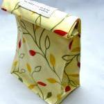 oilcloth Lunch Bag - Leaves on Vine..