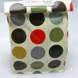 Oilcloth Lunch Bag - Multi Spots